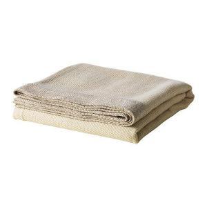 IKEA・イケア ひざ掛け 毛布 HENRIKA ひざ掛け, ライトベージュ, 120x180 cm (201.903.82) moblife