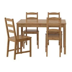 ダイニングテーブルセット IKEA・イケア リビングダイニングセット JOKKMOKK テーブル&チェア4脚, アンティークステイン(202.111.05)|moblife