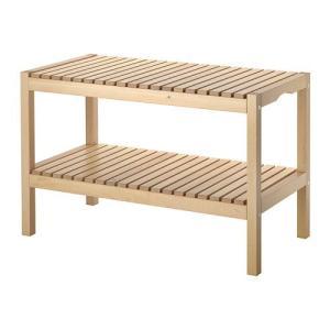 【IKEA/イケア/通販】「バスルーム収納・スツール」 MOLGER ベンチ, バーチ(202.414.52) moblife