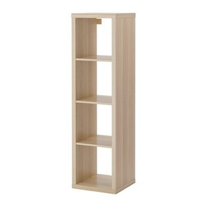 IKEA・イケア 書棚・本棚 KALLAX (カラックス)   シェルフユニット, ホワイトステインオーク調(103.629.20)|moblife