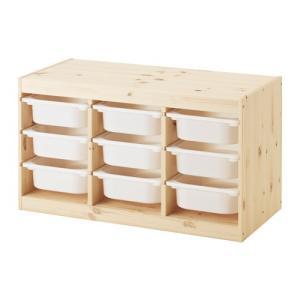 IKEA・イケア おもちゃ箱・子供収納 TROFAST(トロファスト) 収納コンビネーション, パイン材, ホワイト(291.029.94)
