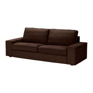 IKEA・イケア ソファ KIVIK 3人掛けソファ, トゥリンゲ ダークブラウン, 135x85 cm (298.848.06)|moblife