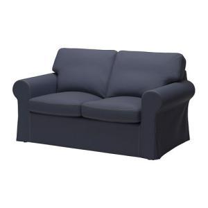 IKEA・イケア ソファ EKTORP 2人掛けソファ, ヨーンスボーダ ブルー (299.325.91) moblife