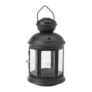 IKEA・イケア キャンドル・ろうそく  ROTERA ティーライト用ランタン, ブラック, 21 cm (301.431.87)|moblife