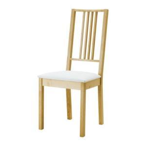 IKEA イケア チェア 椅子 ダイニングチェア おすすめ BORJE チェア, バーチ, ゴーボ ホワイト (301.621.09) moblife