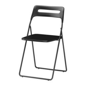 IKEA・イケア 椅子 ダイニングチェア・チェア NISSE 折りたたみチェア, ブラック(301.622.08) moblife