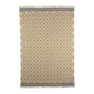 IKEA・イケア リビングルーム・ラグ ALVINE RUTA ラグ 平織り, 手織り キリム ホワイト/イエロー 170x240 cm  (301.682.86)|moblife