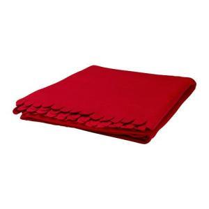 IKEA・イケア ひざ掛け 毛布 POLARVIDEひざ掛け, レッド(301.733.96) moblife