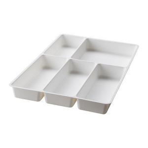 IKEA・イケア キッチン・キッチン収納 STODJA カトラリートレイ, ホワイト, 31x50 cm (301.772.24)|moblife