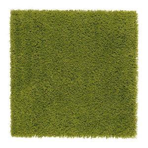 IKEA・イケア ラグ・リビングルーム HAMPEN ラグ パイル長, ブライトグリーン, 80x80 cm (302.037.89)|moblife