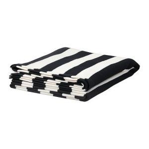 IKEA・イケア ひざ掛け 毛布 EIVOR ひざ掛け, ブラック/ホワイト(302.121.28) moblife
