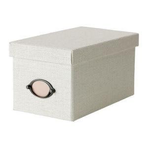 IKEA・イケア 収納ボックス・収納ケース KVARNVIK   ふた付きボックス,ホワイト (302.566.93)|moblife