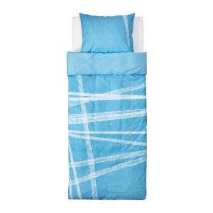 【IKEA/イケア/通販】「キッズ・ベットリネン」 STOJIG 掛け布団カバー&枕カバー, ブルー, 150x200/50x60 cm (302.726.50)|moblife