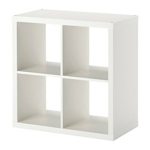 IKEA・イケア 書棚・本棚 KALLAX (カラックス)   シェルフユニット, ホワイト, 77x77 cm (703.518.86)|moblife