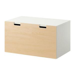 IKEA・イケア 収納 STUVA 収納ベンチ, ホワイト, バーチ, 90x50x50 cm (390.325.66) moblife