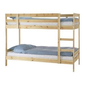 イケア IKEA 2段  ベッド MYDAL 2段ベッドフレーム, パイン材(401.641.22)|moblife