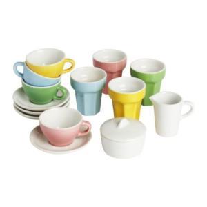 IKEA・イケア おもちゃ・ホビー DUKTIG コーヒー/ティー 10点セット, マルチカラー (401.678.37)|moblife