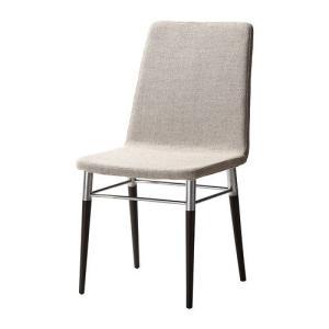 IKEA・イケア 椅子 ダイニングチェア・チェア PREBENチェア, ブラウンブラック, テーノー ライトグレー(402.013.32) moblife