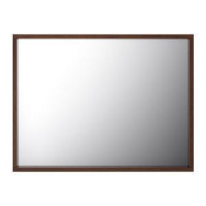 IKEA・イケア バスルームミラー・鏡 洗面 MOLGER ミラー, ダークブラウン, 80x60 cm (402.418.18)|moblife