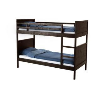 IKEA・イケア キッズ・2段ベッド NORDDAL 2段ベッドフレーム, ブラックブラウン, 90x200 cm (402.530.43)|moblife