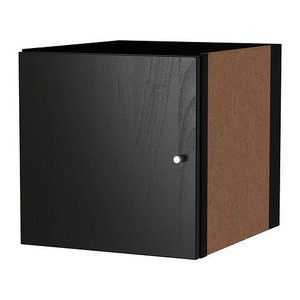 IKEA・イケア 書棚・本棚 KALLAX (カラックス)   インサート 扉, ブラックブラウン, 33x33 cm (503.518.87)|moblife