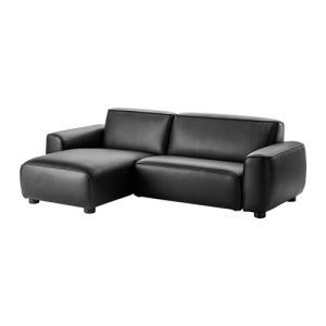2人掛けソファ IKEA・イケア ソファ 2人掛けソファ 寝椅子付き, キムスタ−ド ブラック (402.991.83) moblife