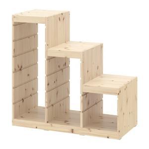 IKEA・イケア おもちゃ箱・子供収納 TROFAST(トロファスト) フレーム, パイン材 (403.086.96)