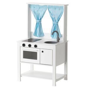 IKEA おままごとキッチン カーテン付き SPISIG イケア (404.278.16)