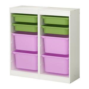 IKEA・イケア おもちゃ箱・おもちゃ入れ・子供収納 TROFAST(トロファスト) 収納コンビネーション, ホワイト, マルチカラー(498.730.05)