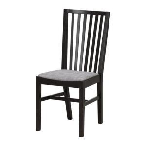 IKEA・イケア 椅子 チェア・ダイニングチェア NORRNAS チェア, ブラック, イースンダ グレー (501.774.97) moblife