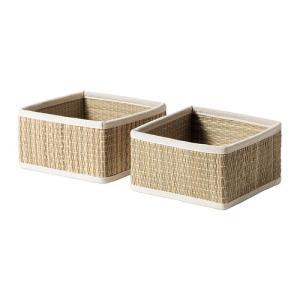 IKEA・イケア バスルーム収納・バスルームアクセサリー SALNANバスケット, シーグラス(502.640.03)|moblife