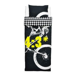 【IKEA/イケア/通販】「キッズ・ベットリネン」 LACKERT 掛け布団カバー&枕カバー, グレー, 150x200/50x60 cm (502.731.25)|moblife