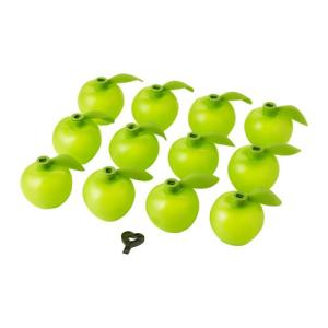 IKEA・イケア 照明・ランプ SOLVINDENライトチェーン用デコレーション, リンゴ形 グリーン (503.020.19)|moblife