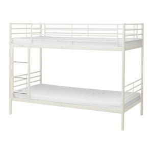 イケア IKEA 2段ベッド SVARTA 2段ベッドフレーム, ホワイト (503.053.67)|moblife