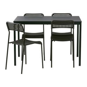 IKEA・イケア ダイニングテーブル・チェア TARENDO / ADDEテーブル&チェア4脚, ブラック(590.106.91)|moblife