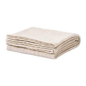 IKEA・イケア ひざ掛け 毛布 GURLI ひざ掛け, ホワイト, ベージュ(602.049.09) moblife