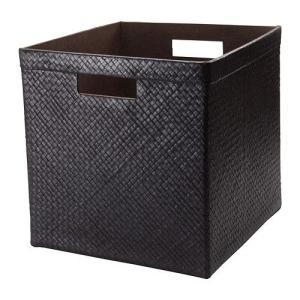 IKEA・イケア 収納ボックス・収納ケース BLADIS バスケット, ブラック(602.234.13 )|moblife