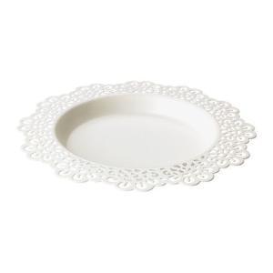IKEA・イケア キャンドル・ろうそく SKURAR キャンドル皿, ホワイト, 18 cm (602.399.80)|moblife