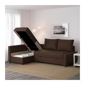 IKEA・イケア ソファ ソファベッド コーナーソファベッドFRIHETEN スキフテボー ブラウン (092.167.03)|moblife