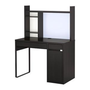 IKEA・イケア パソコンデスク・勉強机・子供机・学習机 MICKE(ミッケ) ワークステーション, ブラックブラウン  (992.450.27)|moblife