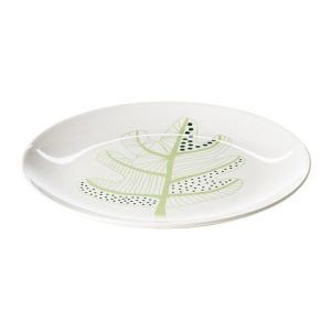 IKEA・イケア 食器・プレート OVERENS プレート, ホワイト, グリーン, 27 cm (702.097.27)|moblife