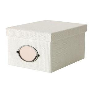 IKEA・イケア 収納ボックス・収納ケース KVARNVIK  ふた付きボックス, ホワイト (702.566.91)|moblife