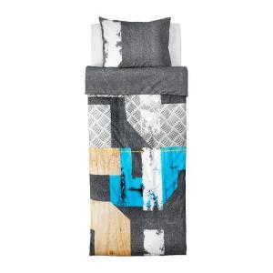 【IKEA/イケア/通販】「キッズ・ベットリネン」 PIMPLA 掛け布団カバー&枕カバー, グレー, 150x200/50x60 cm (702.731.34)|moblife