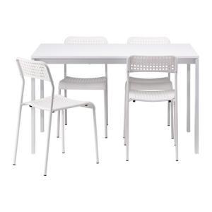 IKEA・イケア ダイニングテーブル・チェア MELLTORP / ADDEテーブル&チェア4脚, ホワイト(790.143.77)|moblife
