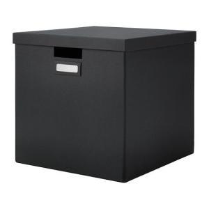 IKEA・イケア 収納ボックス・収納ケース TJENA ふた付きボックス, ブラック, 32x35x32 cm (802.636.34)|moblife