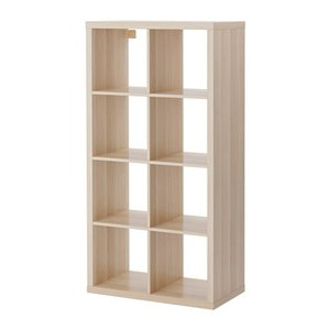 IKEA・イケア 家具・書棚・本棚 KALLAX (カラックス)   シェルフユニット,ホワイトステインオーク調(703.629.17)|moblife