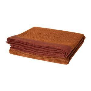 IKEA・イケア ひざ掛け 毛布 HENRIKA ひざ掛け, ダークオレンジ, 120x180 cm (902.556.24) moblife