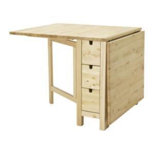 IKEA・イケア ダイニングテーブル NORDEN ゲートレッグテーブル, バーチ(902.902.22)|moblife