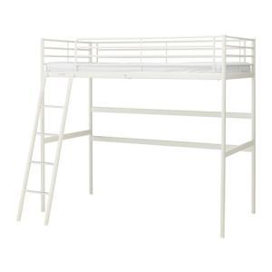 イケア IKEA ロフトベッド ベッド SVARTA ロフトベッドフレーム, ホワイト(903.061.43)|moblife