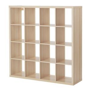 IKEA・イケア 書棚・本棚 KALLAX (カラックス)  シェルフユニット, ホワイトステインオーク調(503.629.18)|moblife